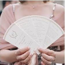wedding program on a fan 11 wedding ceremony programs that as fans mywedding