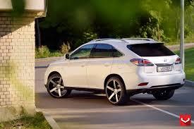 suv lexus white vossen wheels lexus rx vossen cv3r