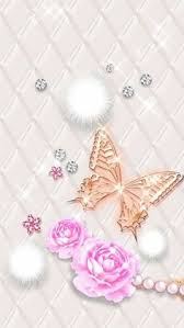 melissa wallpaper in pink pink shiny butterfly wallpaper with gilt icons android theme
