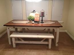 farmhouse kitchen table with bench diy inspirations rustic images