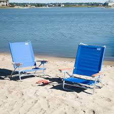 Fully Reclining Beach Chair Copa 5 Position Lay Flat Aluminum Beach Chair Hayneedle