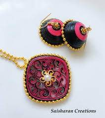 quilling earrings set quilling jewelry set paper quilling jhumkas jewelry