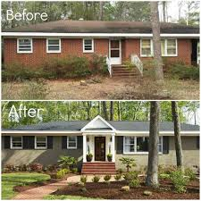 Shutters For Homes Exterior - before u0026 after adding porch and shutters painting brick
