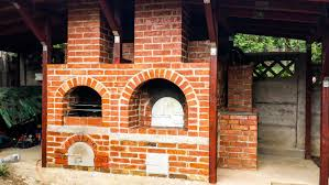 Build Brick Oven Backyard by Diy Brick Oven Construction Youtube