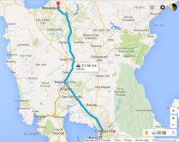 Via Bus Route Map Boy Wander Travelling From Qc To Manaoag By Bus
