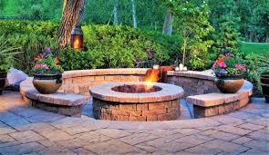 patio paving u0026 fire pit built in braai area genesis paving