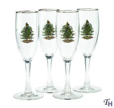 tree chagne flutes by spode