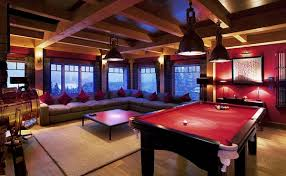 Games For Basement Rec Room by Corner View Of The Mountains In This Awesome Basement Basement