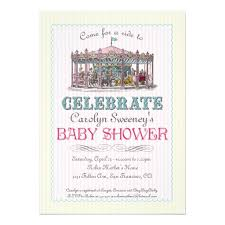 carousel baby shower personalized carousel invitations custominvitations4u