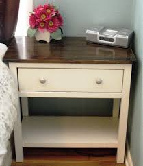 ana white farmhouse bedside table diy projects pertaining to white