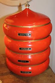 186 best vintage canisters images on pinterest vintage canisters vintage orange stacking canister