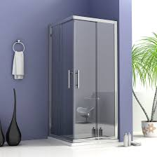 walk in shower enclosure curved 6mm glass cubicle screen side