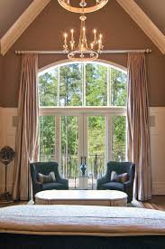 Arched Window Curtain Charlotte Arch Window Curtains Bedroom Traditional With Pitched
