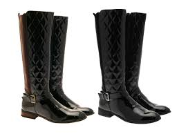 womens quilted boots uk womens quilted wide calf stretch boots knee high