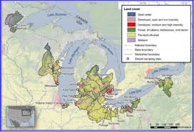 Map Of Great Lakes Study Mn Rivers That Flow Into Lake Superior Are Polluted But