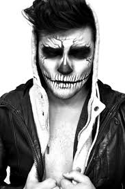 halloween face paintings for men great drawing