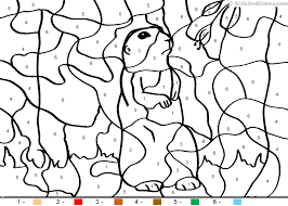 animal color number color number groundhog coloring pages