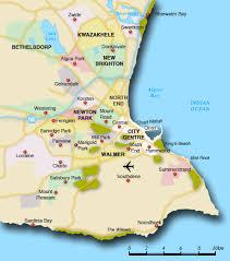 map port map of port elizabeth suburbs port elizabeth map south africa