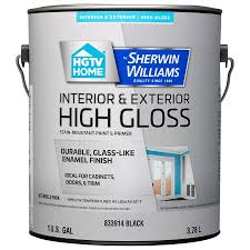 Black Exterior Gloss Paint - shop hgtv home by sherwin williams door and trim high gloss black