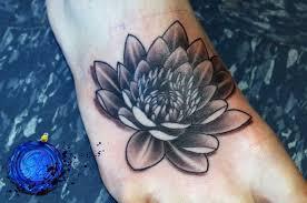 black lotus flower on permanent artwork