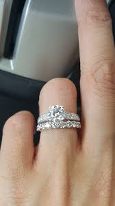 the wedding band got my wedding band can t wait to wear it show me your set
