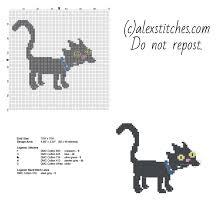 cross stitch pattern design software snowball ii the simpsons cat free cartoon cross stitch pattern made