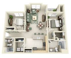 appartement 2 chambre 50 plans 3d d appartement avec 2 chambres sims house and apartments