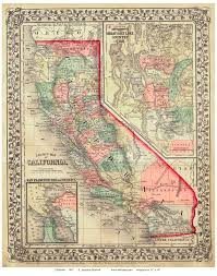 Old Map Old Map Of California California Map