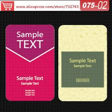 Business Card Template Online Aliexpress Com Buy 0075 02 Business Card Template For Print Free