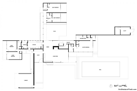 desert home plans baby nursery desert home plans kaufmann house floor plan neutra
