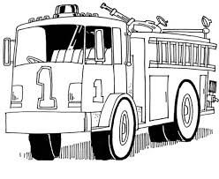 coloring pages fire truck fire fighters hose fire engine