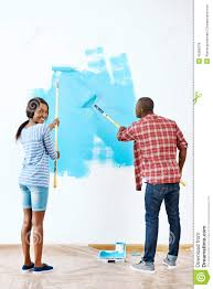 painting house couple stock photo image 45369278