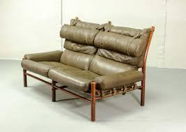 legendary mid century u0027inca u0027 safari two seat lounge sofa by arne