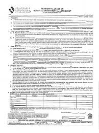Rental House Lease Agreement Template Residential Lease C A R Form