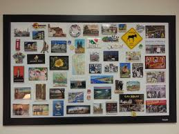 fun way to display magnet collection using magnet board home