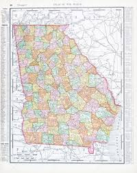 Map States Usa by Antique Color Map Of Georgia Ga United States Usa U2014 Stock Photo