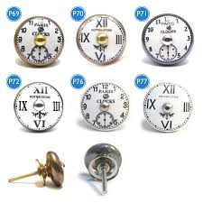 vintage antique clock face cupboard knobs by pushka home