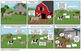 animal farm chapter 3 storyboard by talina xox