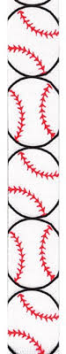 baseball ribbon offray grosgrain baseball craft ribbon 7 8 inch wide