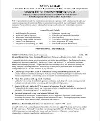 Human Resource Resume Samples by Hr Specialist Professional Technical Recruiter Sample Resume