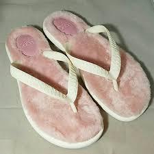 sale ugg flip flops ugg ugg australia sz 8 fluffle pink fur flip flops from lynne s