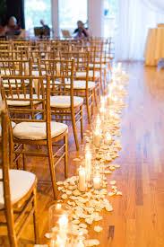 petals along both sides aisle 69 outdoor wedding aisle decor