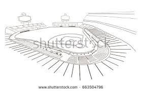 sketch baseball stadium vector illustration stock vector 663504796