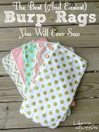 the easiest and best burp rags you will ever sew burp rags