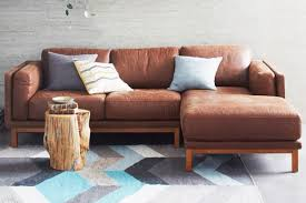 west elm leather sofa reviews 4 modern leather sectional sofas for a better living room