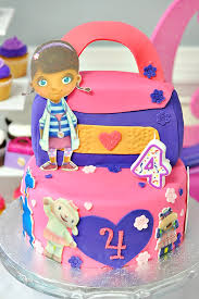 doc mcstuffin birthday cake pink and purple doc mcstuffins party hostess with the mostess