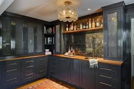 blue kitchen cabinets with wood countertops blue butler pantry with wood countertops transitional