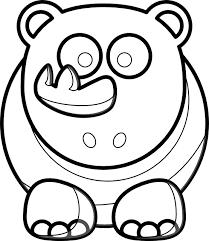 rhino outline hunky dory svg colouringbook org