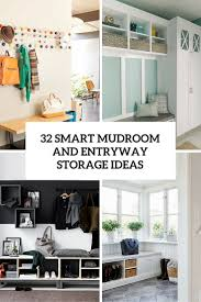 Ideas For Laundry Room Storage by 32 Small Mudroom And Entryway Storage Ideas Shelterness