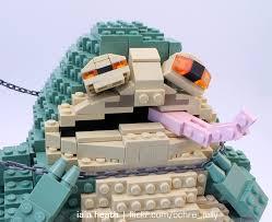 mitsubishi lego leia vs jabba in lego whoa technabob